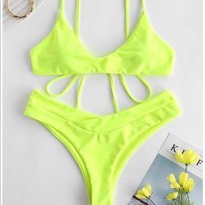 ZAFUL✨Neon Cami Bikini Spaghetti Straps Swimsuit